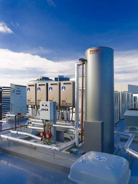 large rinnai hot water systems